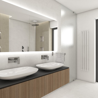 Elegant bathroom for two kids | by CADFACE