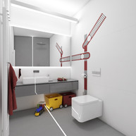 Railway-themed kids' bathroom | by CADFACE