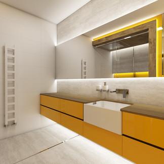 Modern bathroom with custom furniture | by CADFACE