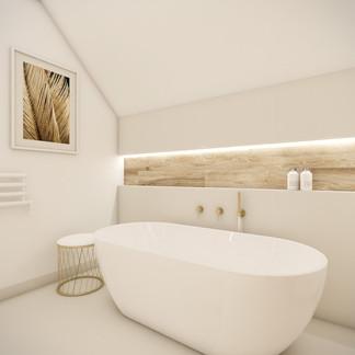 Elegant bathroom with solitary bathtub | by CADFACE