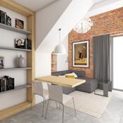 Domček pre hostí - obývačka   design CADFACE