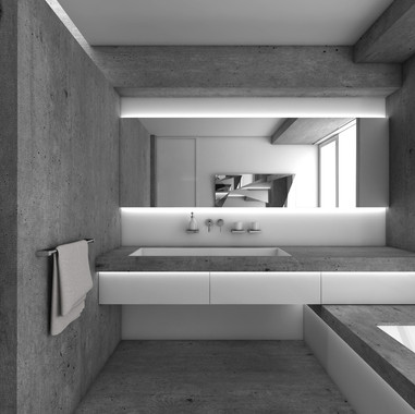 Luxury bathroom crafted out of concrete | by CADFACE