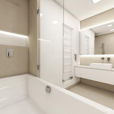 Cozy bathroom in neutral tones | by CADFACE