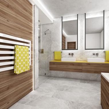 Unisex kúpeľňa pre dvoch tínedžerov | design CADFACE