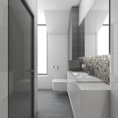 Modern grey bathroom   by CADFACE