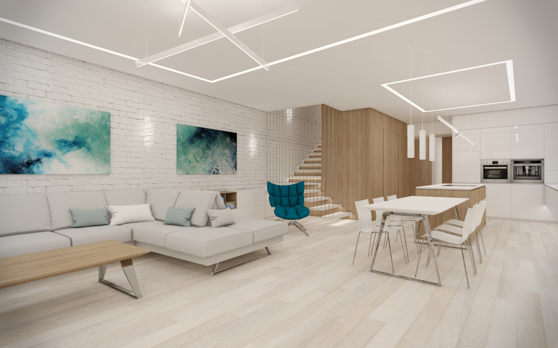 Open-plan living room | by CADFACE