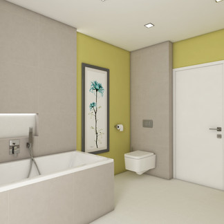 Green family bathroom | by CADFACE
