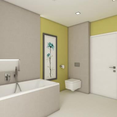 Zelená rodinná kúpeľňa | design CADFACE