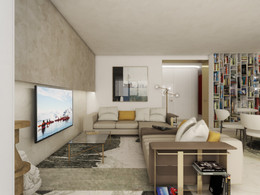 Open-plan living room with kitchen | by CADFACE