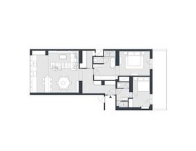 Rekonstrukce bytu Michle | Půdorys