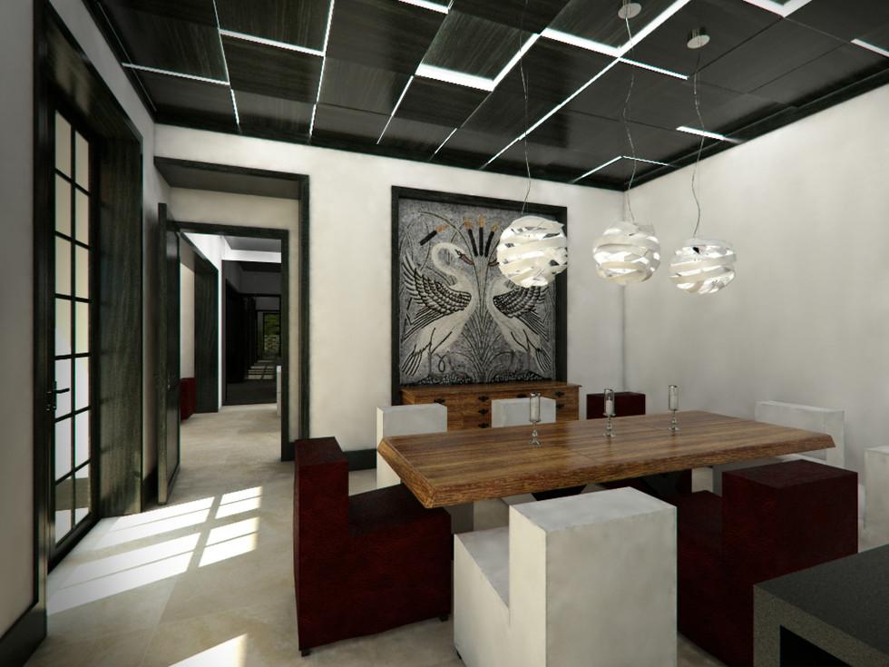 Jedálenský kút v obývacej izbe   design CADFACE