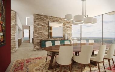 Formálna jedáleň prepojená s kuchyňou | design CADFACE