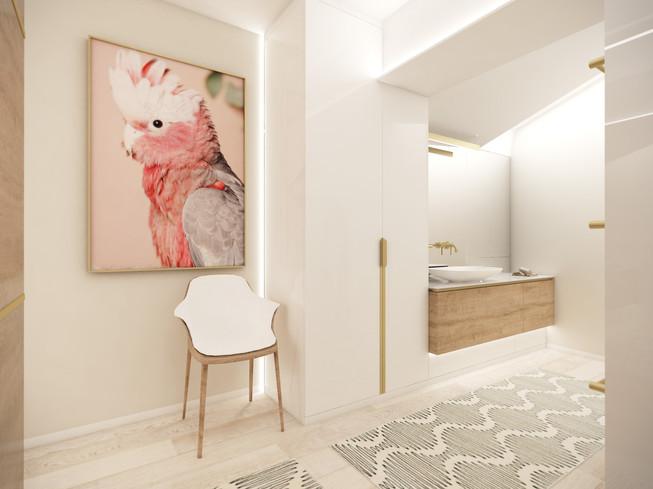 En-suite kúpeľňa v hlavnej spálni | design CADFACE