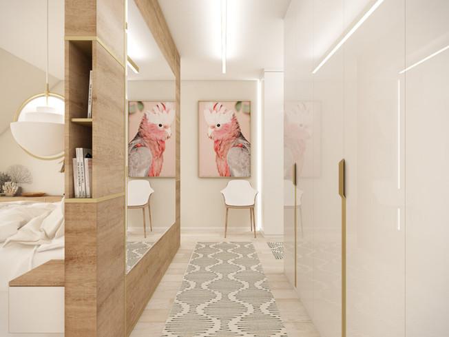 Šatník v hlavnej spálni | design CADFACE