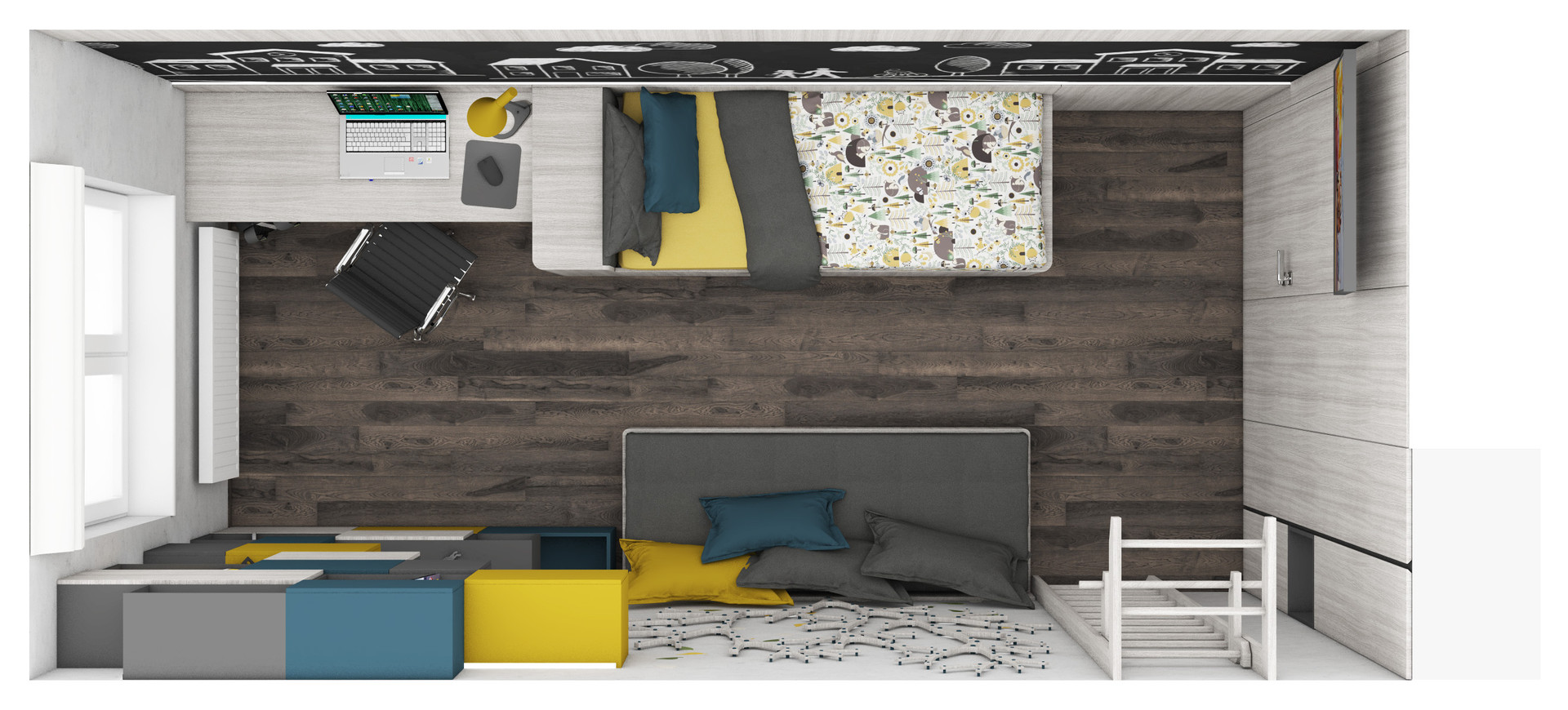 Boy's room - layout | by CADFACE