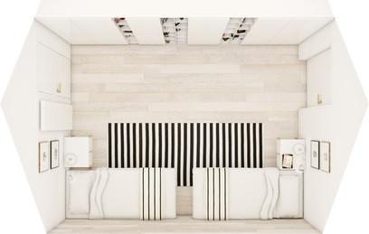Hosťovská spálňa - pôdorys | design CADFACE