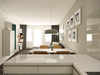 Kitchen & living room | by CADFACE