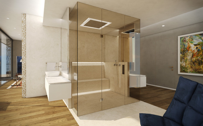 Kúpeľňa v hlavnej spálni | design CADFACE
