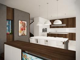 Obývacia izba prepojená s kuchyňou | design CADFACE