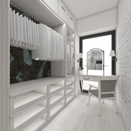 Šatník v spálni rodičov | design CADFACE