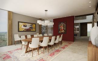 Formálna jedáleň prepojená s foyer | design CADFACE
