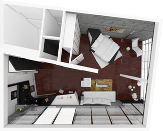 Luxury holiday apartment - layout   by CADFACE