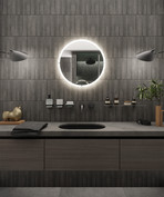 High-end bathroom with dark mosaic tiles   by CADFACE