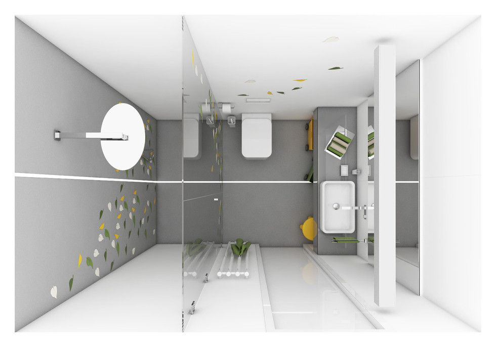 Detská kúpeľňa - dispozícia | design CADFACE