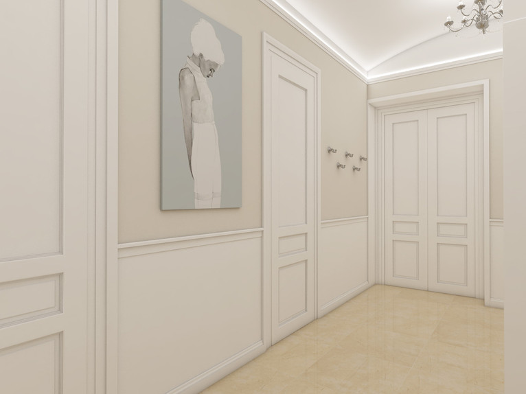 Luxusný apartmán - vstupná hala | design CADFACE