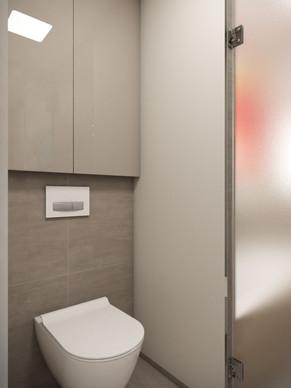 Toaleta oddelená od kúpeľne | design CADFACE