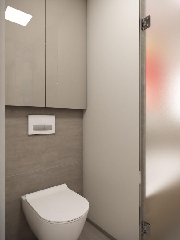 Toaleta oddelená od kúpeľne   design CADFACE