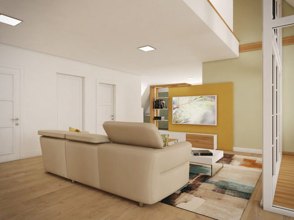 Living room concept with the TV | by CADFACE