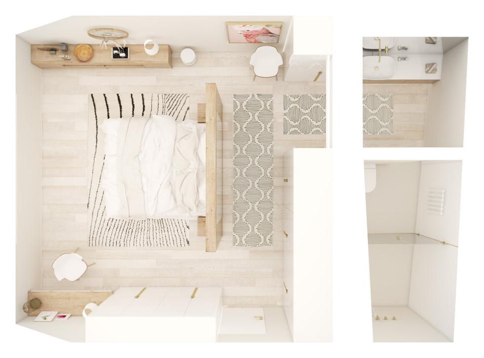 Hlavná spálňa - pôdorys | design CADFACE