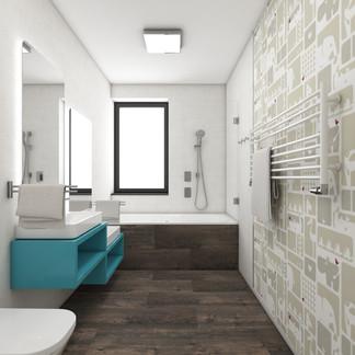 Detská unisex kúpeľňa | design CADFACE