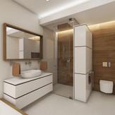 En-suite master bathroom in neutral tones | by CADFACE