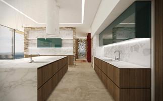 Kuchyňa s ostrovom a množstvom úložných priestorov | design CADFACE