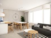 Obývacia izba s kuchyňou | design CADFACE