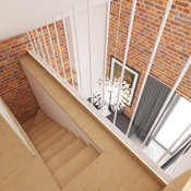 Guest house - staircase | by CADFACE