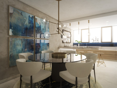 Dining area with a beautiful glass table | by CADFACE