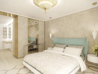 Hlavná spálňa s kúpeľňou | design CADFACE
