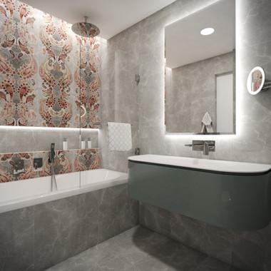 Detská kúpeľňa s damaškovým dekorom | design CADFACE