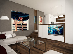 Open-plan living room   by CADFACE