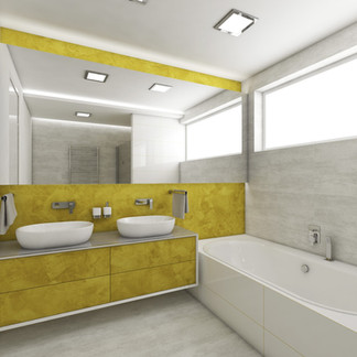 Double vanity bathroom for two kids | by CADFACE