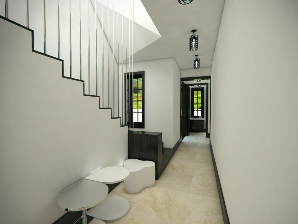 Hallway with the staircase | by CADFACE