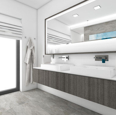 Minimalist bathroom in the shades of gray | by CADFACE