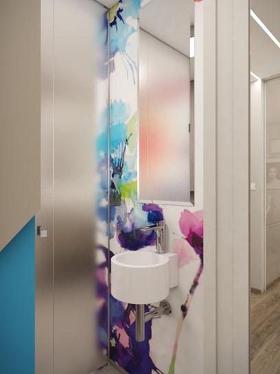 Kruhové umývadlo na toalete   design CADFACE