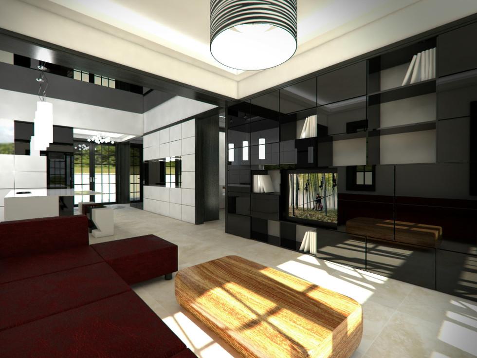 Lounge prepojený s kuchyňou   design CADFACE