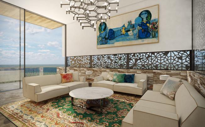 Formálna obývacia miestnosť | design CADFACE