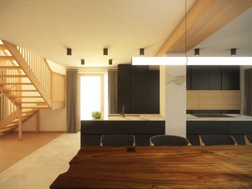 Kitchen in black   by CADFACE