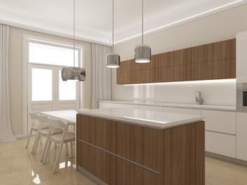 Luxusný apartmán - kuchyňa | design CADFACE